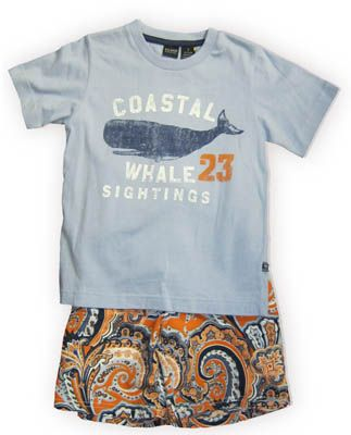 E Land Coastal Whale Sightings whale themed shirt and matching swimtrunks. Great for the pool, beach, lake, water park, and other fun water activities.
