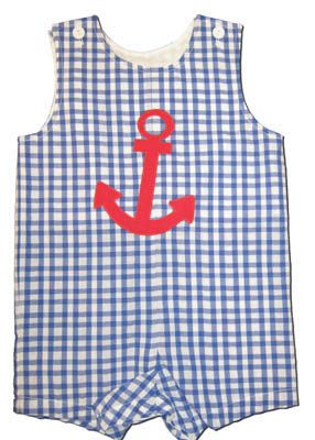 Funtasia Too Anchors Away Shortall with an anchor appliqued.