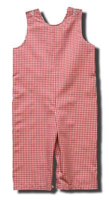 Funtasia Too Austen red checked longall that is comfortable and great for monogramming.