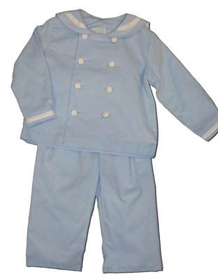 Funtasia Too Baby Blues blue sailor pant set. Classic and great for pictures and outings.