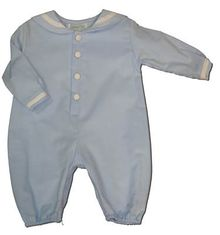 Funtasia Too Baby Blues blue sailor romper. A must have for your boy.