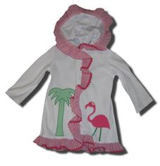 Funtasia Too Bathing Beauties flamingo swimsuit coverup that matches the bathing suit and towel. Super cute.