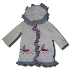 Funtasia Too Bathing Beauties sailboat swimsuit coverup that matches the bathing suit.
