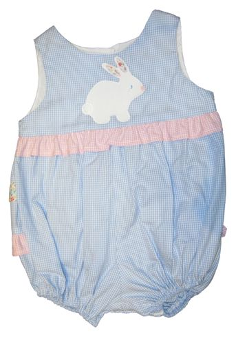 Funtasia Too Bonnie the Bunny Ruffle Bottom Bubble with applique.