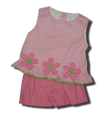 Funtasia Too Circle Around Flowers and Dots crop top and short set. Very comfortable.