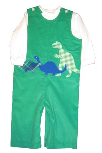 Funtasia Too Dinomite Longall with Dinosaurs appliqued on a Longall. Shirt not included.