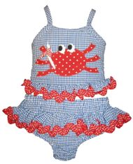 Funtasia Too Do Not Be Crabby Girls Two Piece Swimsuit.