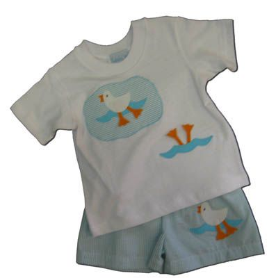 Funtasia Too Duck Duck boys swimsuit set. Matches the girls swimsuits.