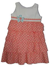 Funtasia Too Flowers n Frills tiered dress with polka dots. A fun style.