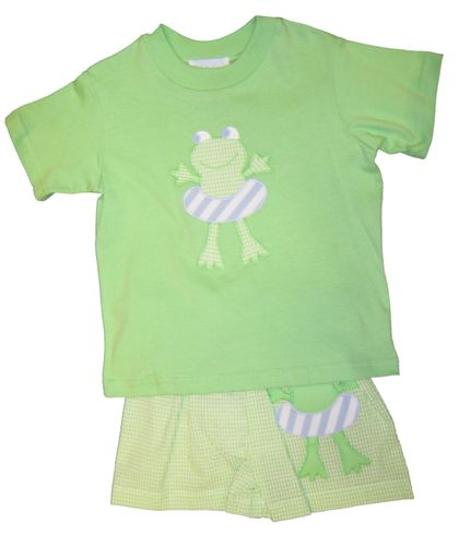 Funtasia Too Frederick the Frog Swim Set. Soft cotton.