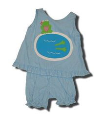 Funtasia Too Frog Dive frog in pool turquoise popover set that is very comfortable.