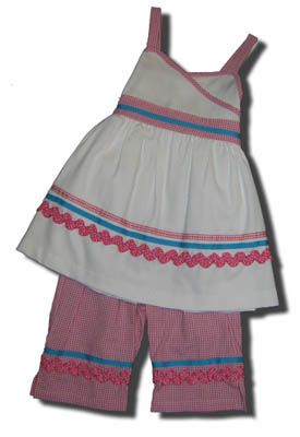 Funtasia Too Frog Dive ribbons capri set. Very comfortable and a great outfit for school and play.