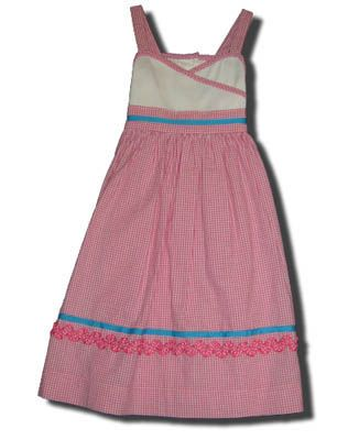 Funtasia Too Pink Check ribbons wrap dress that is comfortable and feminine.
