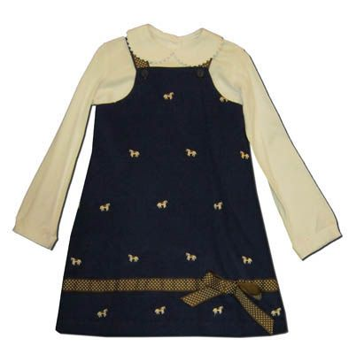 Funtasia Too girls clothes Hungry Horse navy jumper with embroidered horses. Blouse not included.