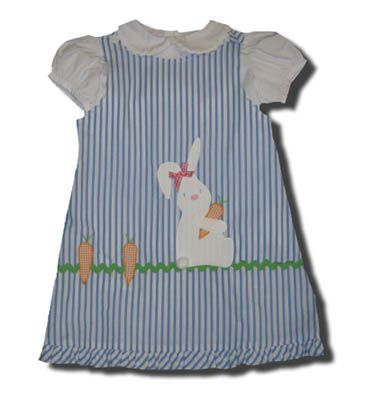 Funtasia Too Honey Bunny blue striped reversible jumper with a bunny on the front and peter pan shirt. Matches the boys.