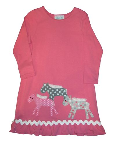 Funtasia Too HorsePlay knit dress with horses appliqued.