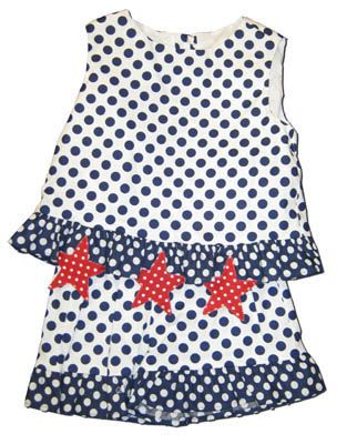 Funtasia Too I Love America Polka Dot short set with stars. So cute.