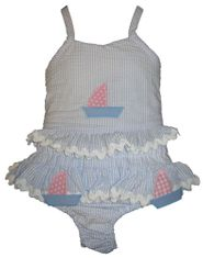 Funtasia Too I Love Boating Two Piece Swimsuit. These are the best swimsuits for girls.