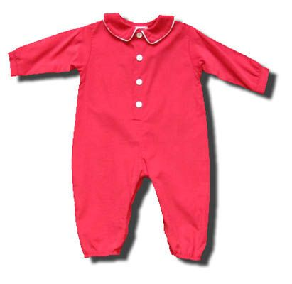Funtasia Too Jolly Old Saint Nick red romper with buttons down the front. Super cute and classic.
