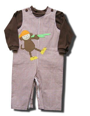 Funtasia Too Monkeying Around brown longall set with a monkey on the front and a brown turtleneck. Super cute for your little monkey and matches the girls.
