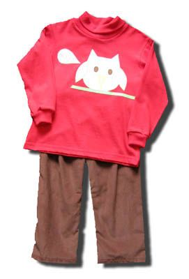 Funtasia Too Night Owl pant set with an owl on the front of the shirt and matching pants. Fun for your boy.