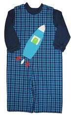 Funtasia Too Out of This World longall with spaceship appliqued. Turtleneck not included.