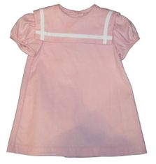 Funtasia Too Pink Sailor Dress. Corduroy light pink float dress with white trim.
