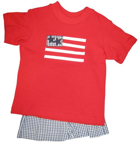 Funtasia Too Proud To Be An American Flag Short Set.