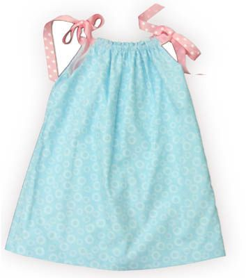 Funtasia Too Ruffles, Volantes, Increspature aqua pillowcase dress with circles and ribbons that tie at the shoulders. Very cute and is reversible!