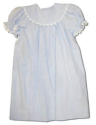 Funtasia Too Sailor Float Dress in blue and white seersucker.