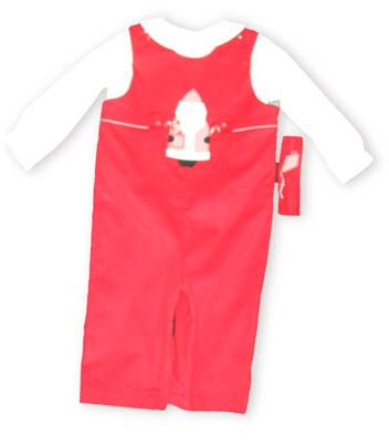 Funtasia Too Santa Land red longall with a button-on Santa Clause and a white tee shirt to go underneath. Also comes with a kite button-on.