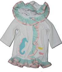 Funtasia Too Seahorse and Friends coverup with a seahorse on the front. Super cute and matches the swimsuit.