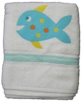 Funtasia Too Seahorse and Friends towel with a fish on the front. Super cute and matches the swimsuit.
