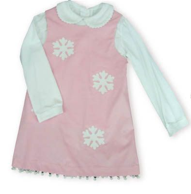 Funtasia Too Snow Princess soft pink jumper with snowflakes and a white blouse to accompany it.