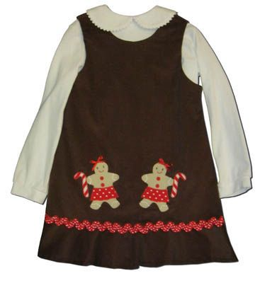 Funtasia Too Sweet Treats brown jumper with two gingerbread men and a white blouse. Matches the boys and fun for everyday.