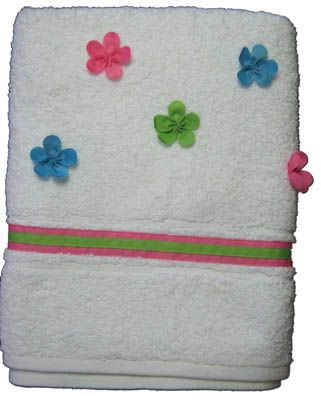 Funtasia Too Tails and Petals towel with flowers on it. Super cute and a must have accessory to go with the swimsuit.