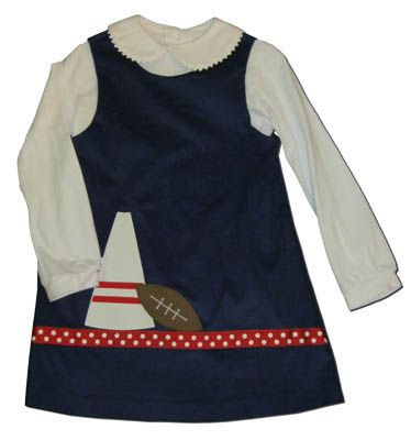 Funtasia Too Touchdown navy jumper with a bullhorn and football on the front. Great for school and play. Blouse not included.