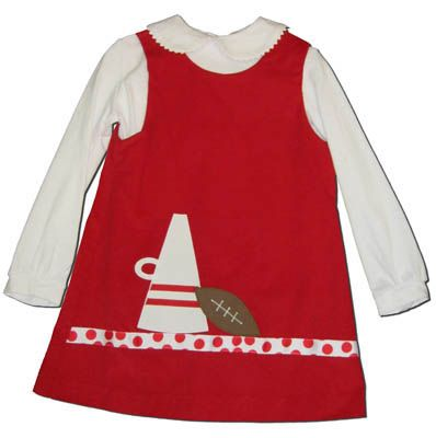 Funtasia Too Touchdown red jumper with a bullhorn and football on the front. Super cute and matches the boys. Great for school and play.