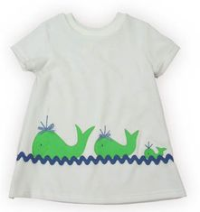 Funtasia Too Whale Watching white velor coverup with three sister whales on the front. Matches the one piece and two piece swimsuits.