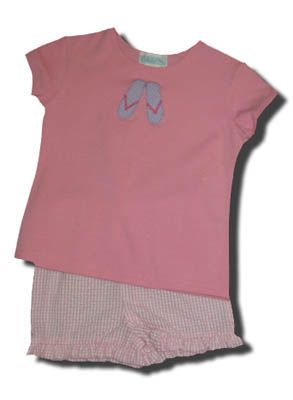 Funtasia Too Wheres My Flip Flops pink top and matching ruffle shorts. Great for school and play.
