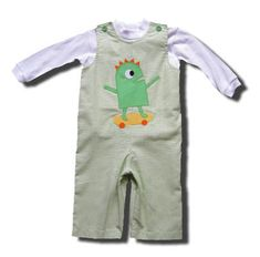 Funtasia Too Wild Things green overall set with a monster on the front and turtleneck. Super adorable.
