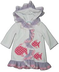 Funtasia Too Zebra Fish coverup with three fish on it that matches the girls swimsuits. Super cute and a must have.