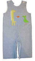 Funtasia Too Zoo Animals longall. Corduroy light blue longall with appliqued zoo animals.