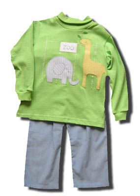 Funtasia Too Zoo to Do pant set with a zoo scene on the front of the shirt. Super cute and coordinates with the girls.