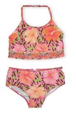 Hartstrings Spring Break two piece swimsuit with floral print.