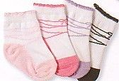 Jeffries very soft ballet style socks with scalloping and elastic at the top.