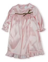 JuJu and Jack Abigail soft pink dress with ruffle and a brown bow.