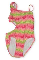 K C Parker Neon Nation lime and fuchsia one piece swimsuit. Beautiful and a great seller in the store. The girls love it.