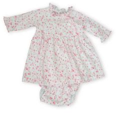 Kissy Kissy Climbing Blooms sweet pink flowery dress with matching diaper cover.