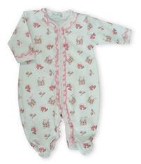 Kissy Kissy Fairy Tale Castle sweet printed footie with some ruffle.